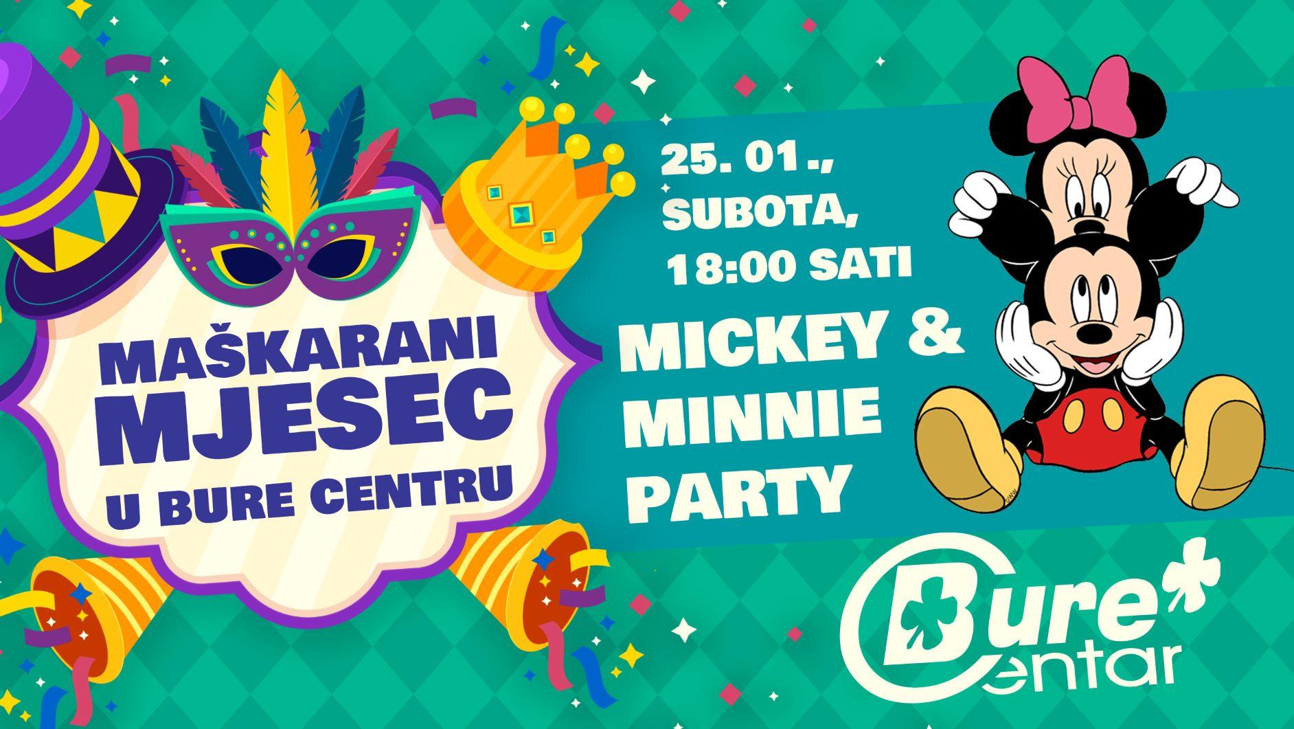 Mickey i Minnie party u Bure Centru