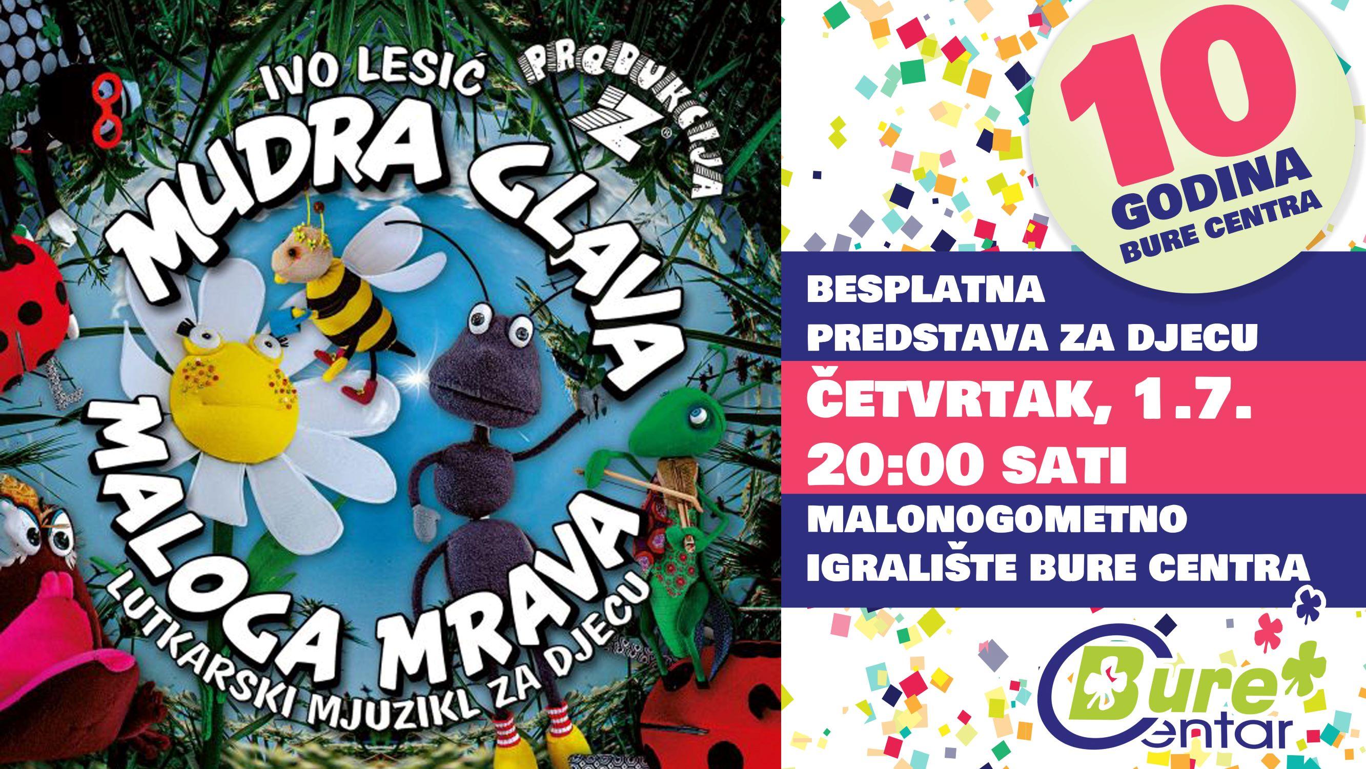Mudra glava maloga mrava - besplatna predstava za djecu na otvorenom