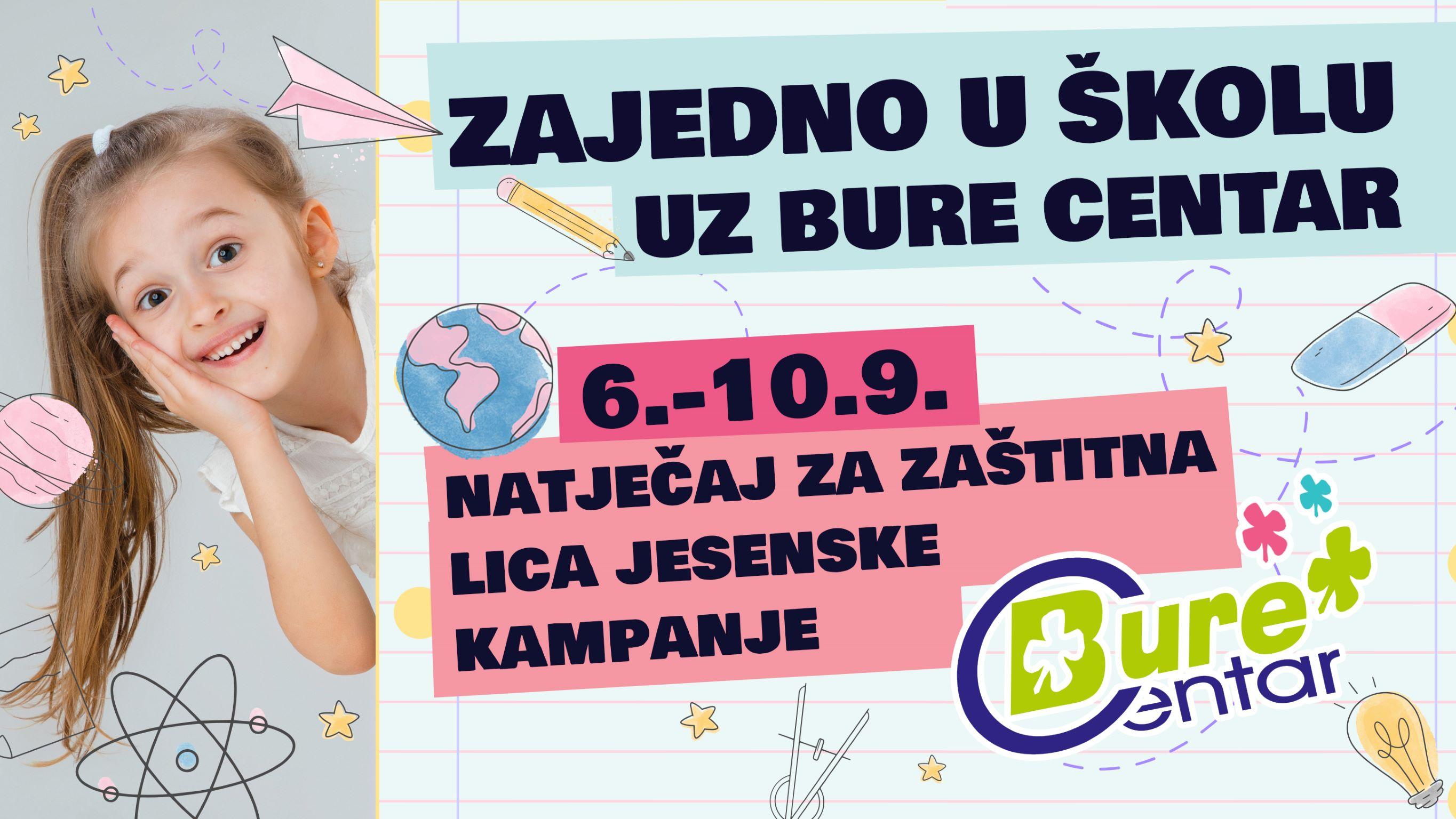 Natječaj za zaštitna lica jesenske kampanje Bure Centra