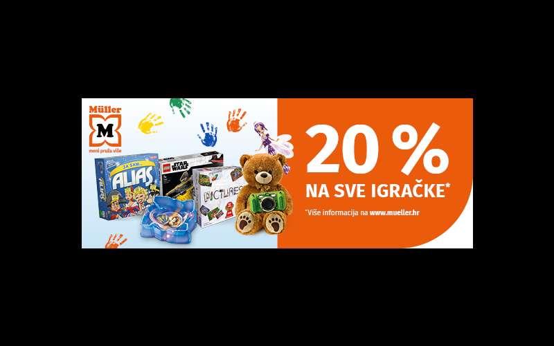 20% popusta na sve igračke u Mülleru